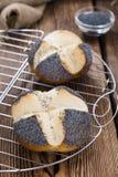 Fresh baked Pretzel Roll (with Poppyseed) Stock Photo