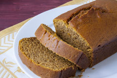 Fresh Baked Pumpkin Bread Stock Image