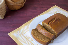 Fresh Baked Pumpkin Bread Royalty Free Stock Images