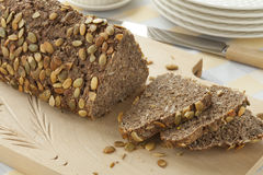 Fresh baked pumpkin seed bread Royalty Free Stock Photography