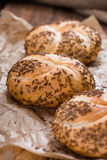 Fresh baked Rolls (with Caraway) Royalty Free Stock Photography