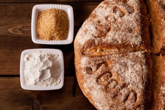 Fresh baked rustic bread Royalty Free Stock Photos