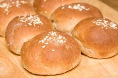 Fresh Baked Sandwich Rolls Royalty Free Stock Image