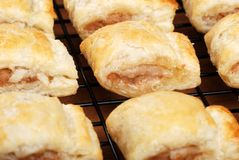 Fresh baked sausage rolls Stock Images