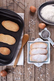 Fresh Baked Savoiardi Biscuits Royalty Free Stock Images