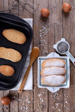 Fresh Baked Savoiardi Biscuits Royalty Free Stock Image