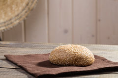 Fresh baked sesame seed bun Royalty Free Stock Image