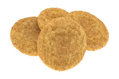 Fresh baked snickerdoodle cookies side view Stock Photography