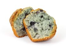 Fresh Baked Split Blueberry Muffin Royalty Free Stock Photography