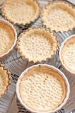 Fresh baked tartelletes shapes Stock Photo