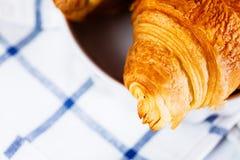 Fresh baked tasty croissant Stock Photography