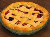Fresh Baked Three-Berry Pie Stock Photo