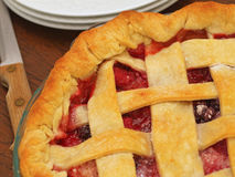 Fresh Baked Three-Berry Pie Stock Photos