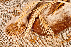 Fresh baked traditional bread Royalty Free Stock Image