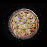 Fresh baked veggie pizza Stock Images