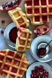 Fresh Baked Waffle Royalty Free Stock Photography