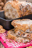 Fresh baked Walnut Bread Stock Photos