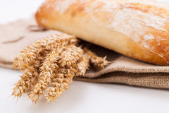 Fresh baked white ciabatta bread baguette objects Royalty Free Stock Photo