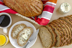 Fresh Baked Whole Grains and Seeded Bread Royalty Free Stock Photo