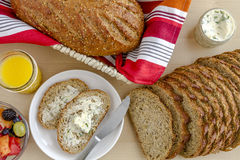 Fresh Baked Whole Grains and Seeded Bread Royalty Free Stock Images