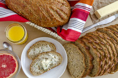 Fresh Baked Whole Grains and Seeded Bread Stock Image