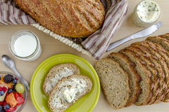 Fresh Baked Whole Grains and Seeded Bread Royalty Free Stock Photography