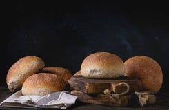 Fresh baked wholegrain buns Stock Photo