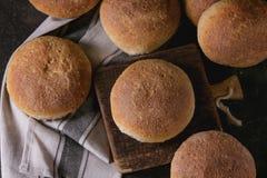 Fresh baked wholegrain buns Royalty Free Stock Images