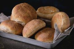 Fresh baked wholegrain buns Stock Photography