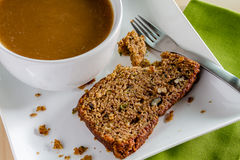 Fresh Baked Zucchini and Cinnamon Bread Stock Photography