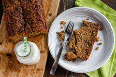 Fresh Baked Zucchini and Cinnamon Bread Royalty Free Stock Images