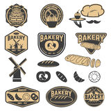 Fresh bakery labels. Cupcakes labels. Stock Images