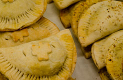 Fresh bakery meat pies. Royalty Free Stock Images