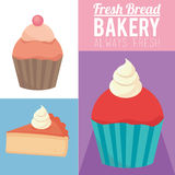 Always fresh bakery products Stock Images