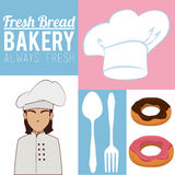 Always fresh bakery products Royalty Free Stock Image