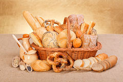 Fresh bakery products and ingredients Royalty Free Stock Photos