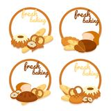 Fresh Baking price badges Stock Images