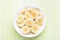 Fresh banana fruits in bowl Stock Images