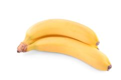 Fresh banana isolated. On a white background royalty free stock photography