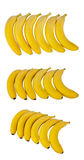 Fresh banana isolated on white background Royalty Free Stock Images