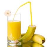 Fresh banana juice Royalty Free Stock Image