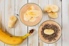 Fresh banana smoothie Royalty Free Stock Photo