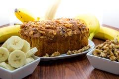 Fresh banana walnut bread Royalty Free Stock Images