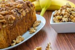 Fresh banana walnut bread Stock Images