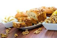 Fresh banana walnut bread Royalty Free Stock Image