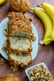 Fresh banana walnut bread Royalty Free Stock Photography