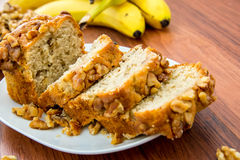 Fresh banana walnut bread Stock Photography