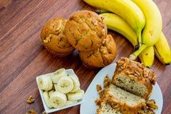 Fresh banana walnut bread Royalty Free Stock Photo