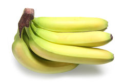 Fresh Bananas. A bunch of six bananas on a white background Stock Photography