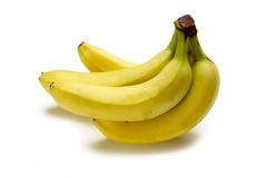 Fresh bananas. Group of fresh bananas on white Royalty Free Stock Photos
